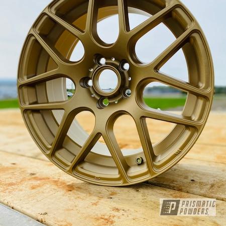 "Powder Coating: Wheels,Automotive,Alloy Wheels,Rims,17"" Aluminum Rims,Volkswagen Wheels,Volkswagen,Gold Wheels,Satin Poly Gold PMB-6487,Tiguan"