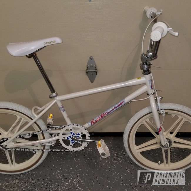 Powder Coating: Bicycles,1986 Schwinn Predator Free Form EX,Pearl White PMB-4364