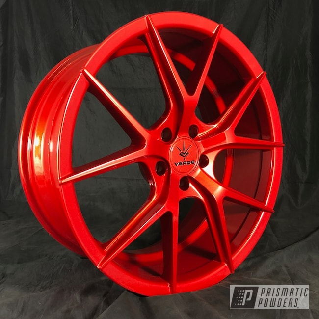 Powder Coating: Wheels,Clear Vision PPS-2974,Custom Wheels,Illusion Red PMS-4515,Desert Verde
