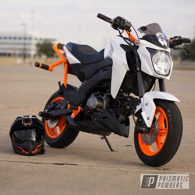 Powder Coating: kawasaki z125,z125,Striker Orange PPS-4750