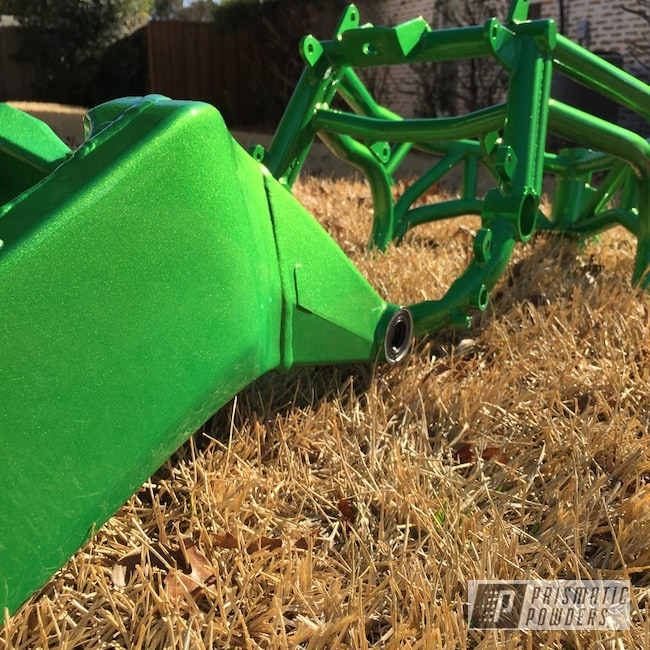 Powder Coating: kawasaki 636,Illusion Green Ice PMB-7025,stunt bike
