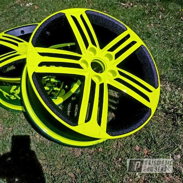 Powder Coated Custom Wheels In Pws-4344, Pss-1104 And Pps-4765