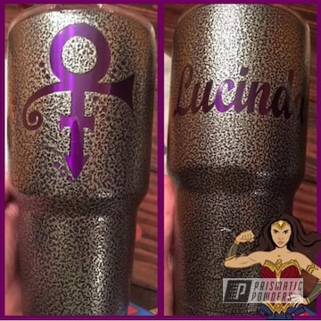 Lollypop Purple And Silver Artery On Custom Prince Ozark Tumbler