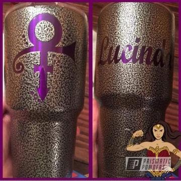 Lollypop Purple And Silver Artery On Custom Prince Ozark Tumbler