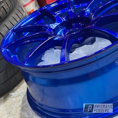 "Powder Coating: Wheels,Spoked Wheels,Rims,LOLLYPOP BLUE UPS-2502,Seat Leon Cupra,WedsSport,18"" Aluminum Rims"