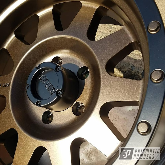 Powder Coating: Wheels,Triple Bronze UMB-4548,Two Tone Wheels,Black Jack USS-1522