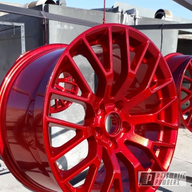 Powder Coated Wheels In Hss-2345 And Upb-5019