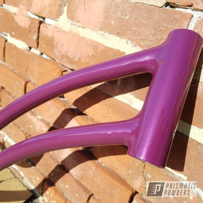 Powder Coating: Bicycles,Clear Vision PPS-2974,Bike Frame,Wild Purple PMB-4163