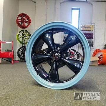 Hollywood Blue, Misty Midnight And Clear Vision On Custom Two Tone Wheel