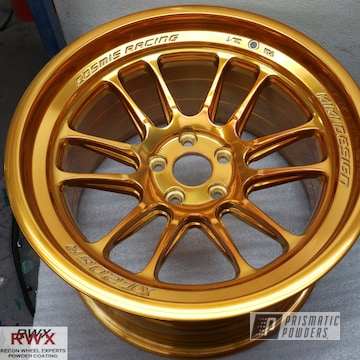 Powder Coated Cosmis Racing Wheels In Pps-5139