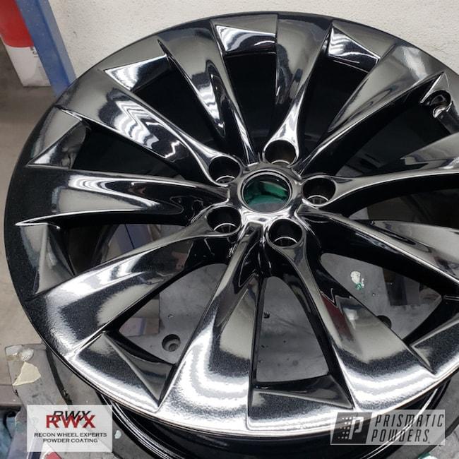 "Powder Coating: Wheels,20"" Wheels,Pearl Black PMB-5347,powder coating,Tesla Wheel,Aluminum Wheels,Single Powder Application,Tesla Model Y,Rims,Tesla Model 3,Tesla Model X,Tesla Model S,Tesla,Tesla Automotive"