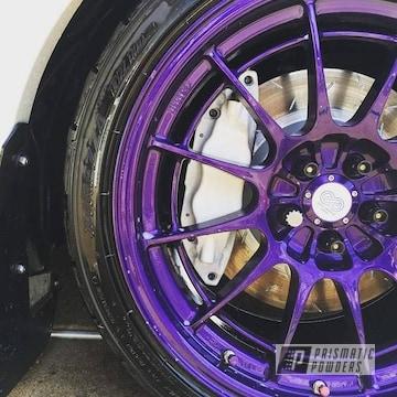 Illusion Purple And Overcast On Custom Automotive Wheel