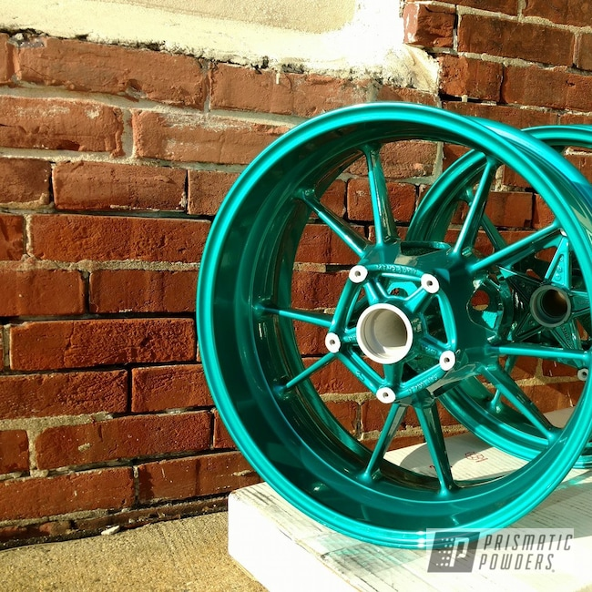 Powder Coating: Wheels,JAMAICAN TEAL UPB-2043,motorcycle