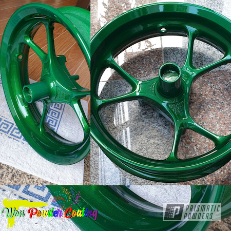 Powder Coating: Illusion Money PMB-6917,Clear Vision PPS-2974,Yamaha,NMAX,Mags