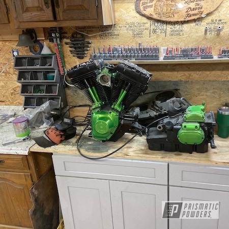 Powder Coating: Harley Davidson Parts,Harley Davidson,Clear Vision PPS-2974,ULTRA,Motorcycle Parts,Accessories,Illusion Green Ice PMB-7025,Motorcycles,Harley