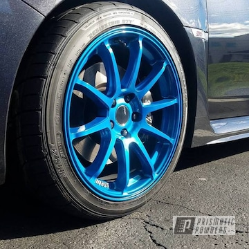 Hawaiian Teal Over Super Chrome On Custom Wheels