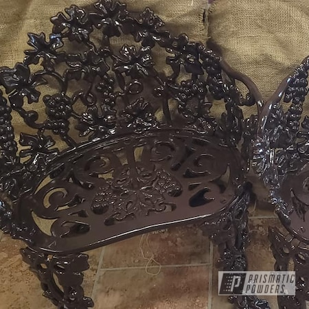 Powder Coating: Patio Chairs,Patio Furniture,Cast Iron Chairs,RAL 8017 Chocolate Brown,Patio Chair,Outdoor Patio Furniture