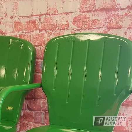 Powder Coating: Chairs,Tractor Green PSS-4517,Vintage Lawn Chairs,Vintage,Outdoor Furniture,Patio Chair,Outdoor Patio Furniture,vintage patio chair