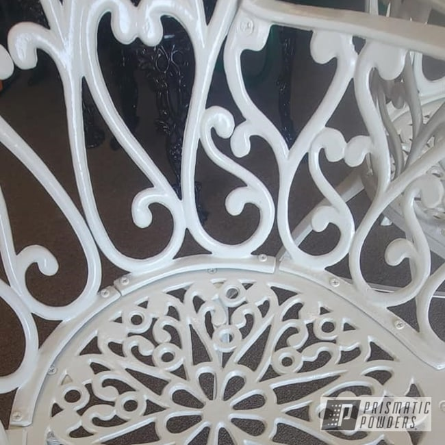 Powder Coating: Patio Chairs,Cast Iron Chairs,Cast Lawn Furniture,Cast Iron,Outdoor Patio Furniture,Off White II PSB-2543,vintage patio chair