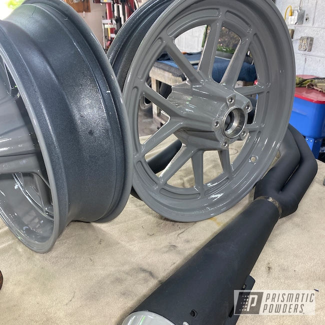 Powder Coating: Clear Vision PPS-2974,Accessories,FLAT THUNDER PSB-8128,Bike Parts,Dyna,Harley,Low Rider,Aluminum Wheels