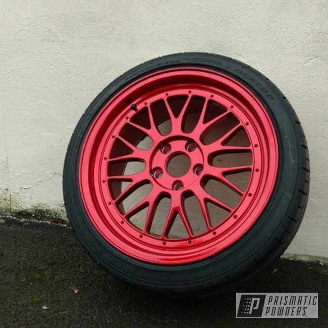 Powder Coating: Wheels,Automotive,Super Chrome USS-4482,Lollypop Red UPS-1506