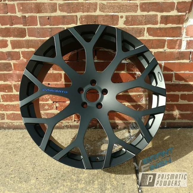 Ral 5002 And Black Jack On Custom Wheel