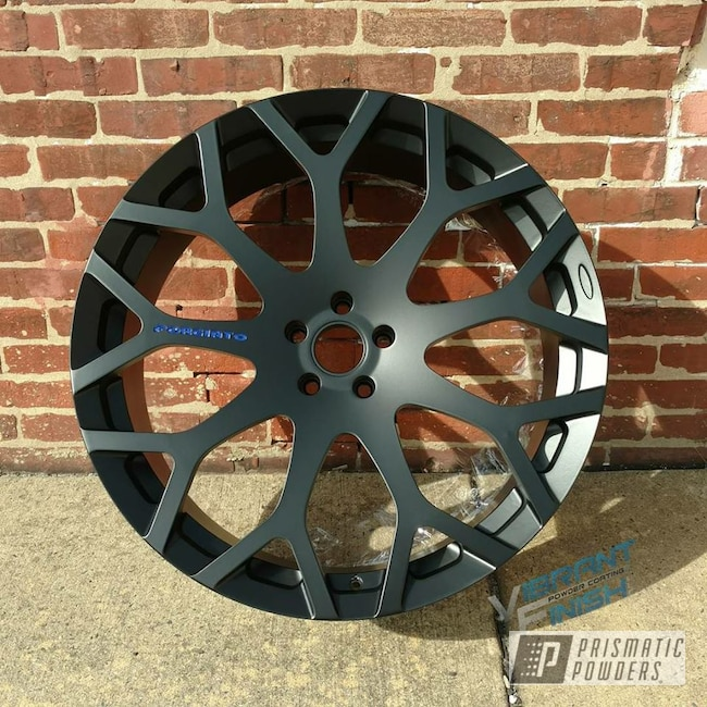Powder Coating: Wheels,Automotive,BLACK JACK USS-1522,RAL 5002 RAL-5002