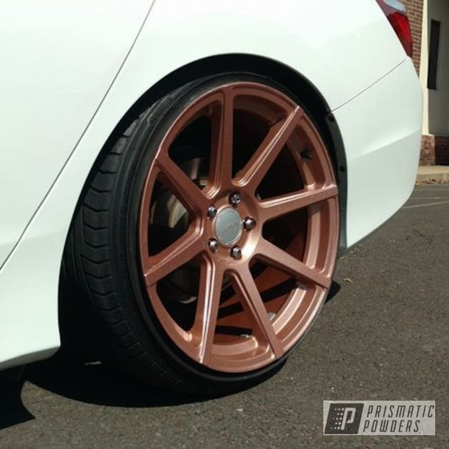 Fireside Copper And Chameleon Sapphire On Custom Car Wheels