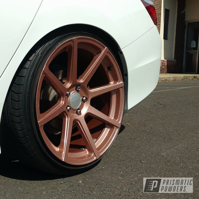 Powder Coating: Wheels,Automotive,Fireside Copper PMB-4934,Chameleon Sapphire PPB-5729