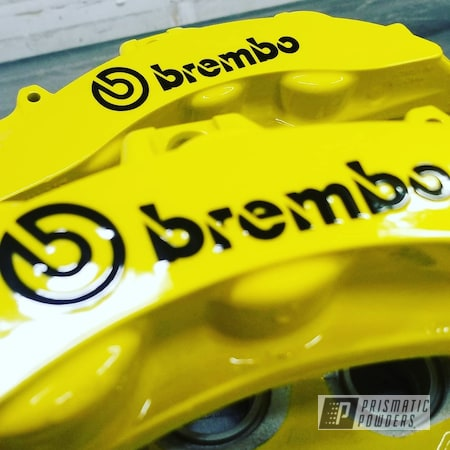 Powder Coating: Calipers,brembos,Brembo Calipers,Brembo,Brake Calipers,Brembo Brake Calipers,Hot Yellow PSS-1623,Cadillac