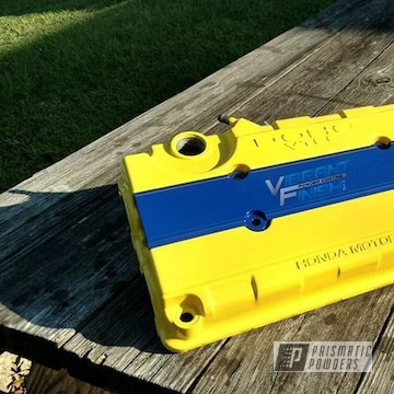 Highland Yellow And Ral 5005 On Honda Valve Cover