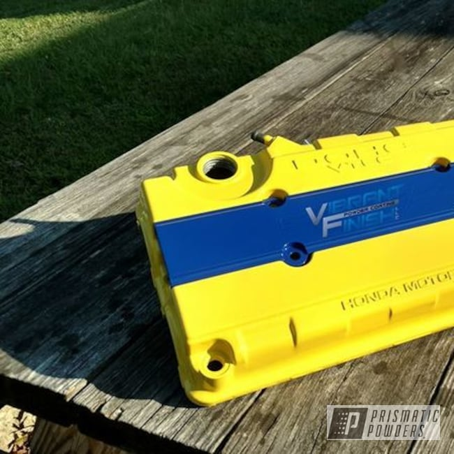 Powder Coating: Automotive,Highland Yellow PSS-1577,Honda,RAL 5005 RAL-5005,Valve Cover