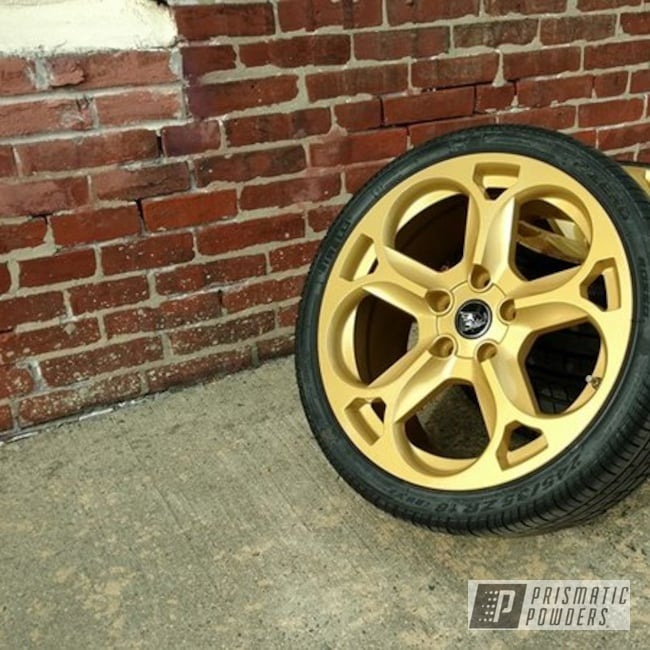 Powder Coating: Wheels,Goldtastic PMB-6625,Automotive,Clear Vision PPS-2974