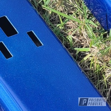 Powder Coating: Automotive,Cheater Blue PPB-6815,2 Stage Application,Blue,Running Boards,Side Steps,Cosmic Blue PMB-1803,Automotive Parts,Transparents