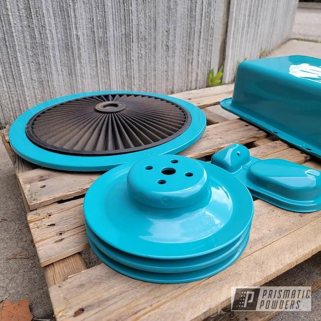 Powder Coating: Automotive,Air Cleaner,Oil Pan,Muscle Car,Restoration,Classic Car,Car Parts,Indian Turquoise PSS-2791,Automotive Parts