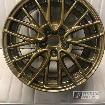 Flaming Gold Over Super Chrome On Custom Two Coat Wheel