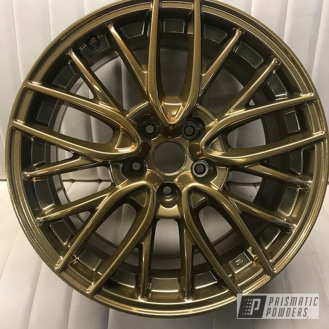 Powder Coating: Flaming Gold PPB-4698,Wheels,SUPER CHROME USS-4482,Two Coat Application