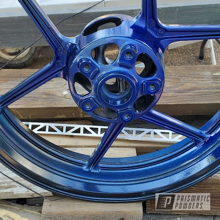 "Powder Coating: Clear Vision PPS-2974,enkei,ZX10R,17"" Aluminum Rims,Ink Black PSS-0106,Illusion Royal PMS-6925,1000RR,Aluminum Wheels"
