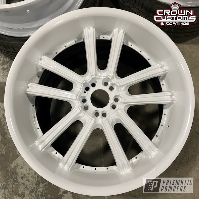 Powder Coating: Wheels,Pearlized White II PMB-4244