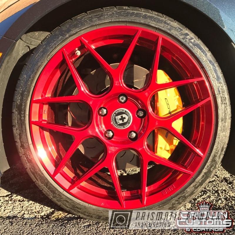 Deep Red On Custom Automotive Wheels