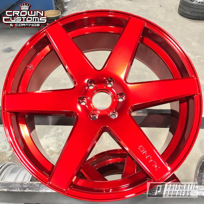 Powder Coating: Wheels,SUPER CHROME USS-4482,LOLLYPOP RED UPS-1506,Red