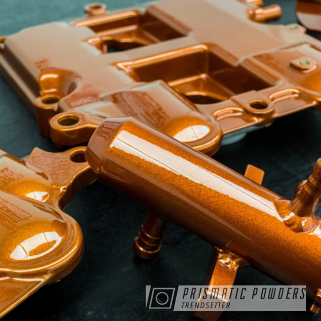 Powder Coating: Clear Vision PPS-2974,parts,Valve Cover,Illusion Rootbeer PMB-6924