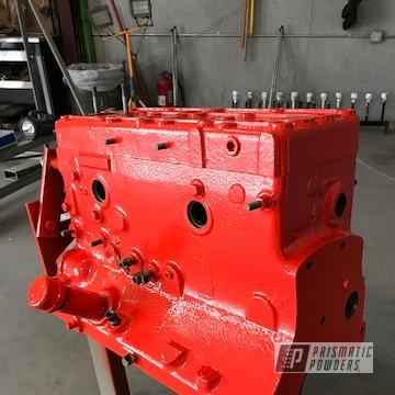 Chevy Orange On Engine Block