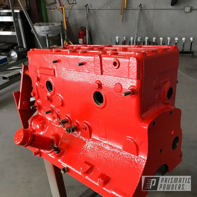 Powder Coating: Chevy Orange PSS-0163,Engine Components