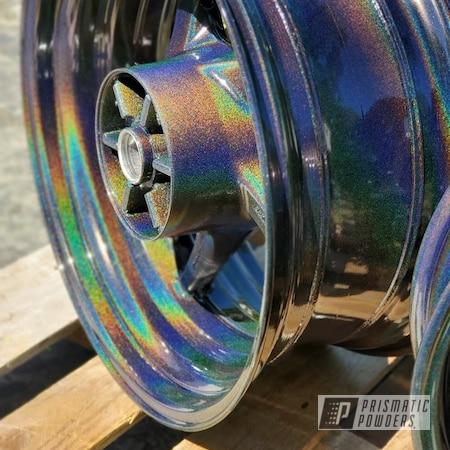 Powder Coating: Wheels,Rainbows,Motorcycle Rims,Yamaha,Rims,Motorcycle Wheels,Warrior,Prismatic Universe PMB-10367