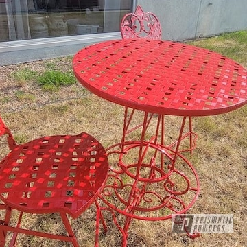 Powder Coated Outdoor Bistro Set In Ral 3002