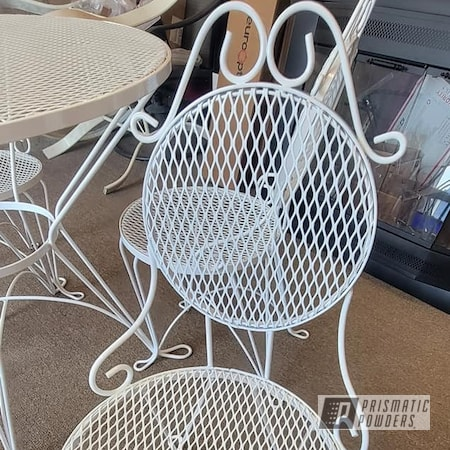 Powder Coating: Patio Table,Patio Furniture,Parlor Table Set,Outdoor Furniture,Ice Cream Parlor Set,Vintage Patio Furniture,Gloss White PSS-5690