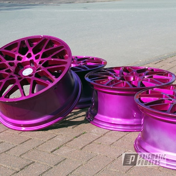 "Clear Vision Over Illusion Purple On 19"" Rotiform Blq Wheels"