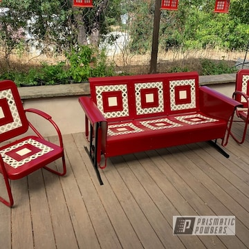 Powder Coated Outdoor Furniture Set In Pss-2694