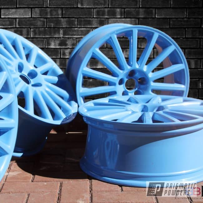 Baby Blue Sparkle On Vw Mk4 Wheels